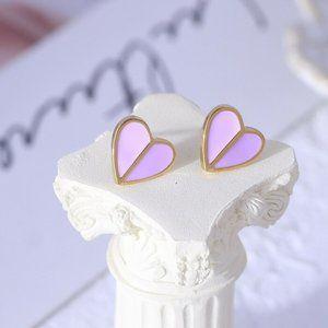 NEW Kate Spade Pink Heritage Spade Heart Earrings